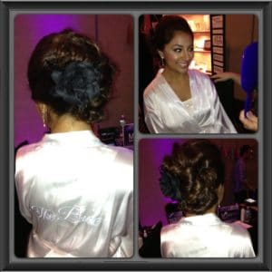We gave Nikki an elegant up-do that would hold through an entire wedding