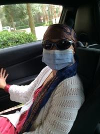 Michele Mann Leaving the Cancer Ward
